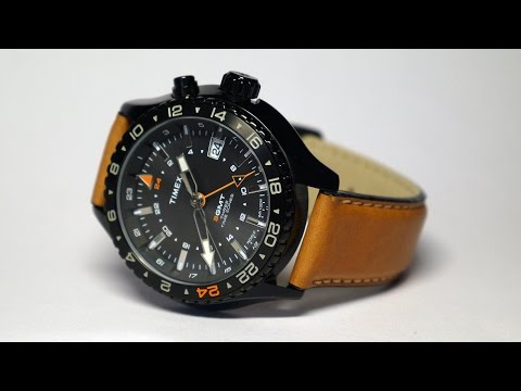 Timex® T2P427DH 3 GMT with Intelligent Quartz™ Technology Watch