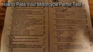 Motorcycle Permit Test How to Pass Answers