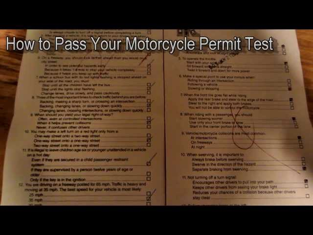 Motorcycle Permit Test How To Pass