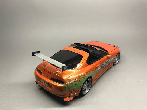 Tamiya/USCP:  The Fast and The Furious Toyota Supra Full build video Step by step