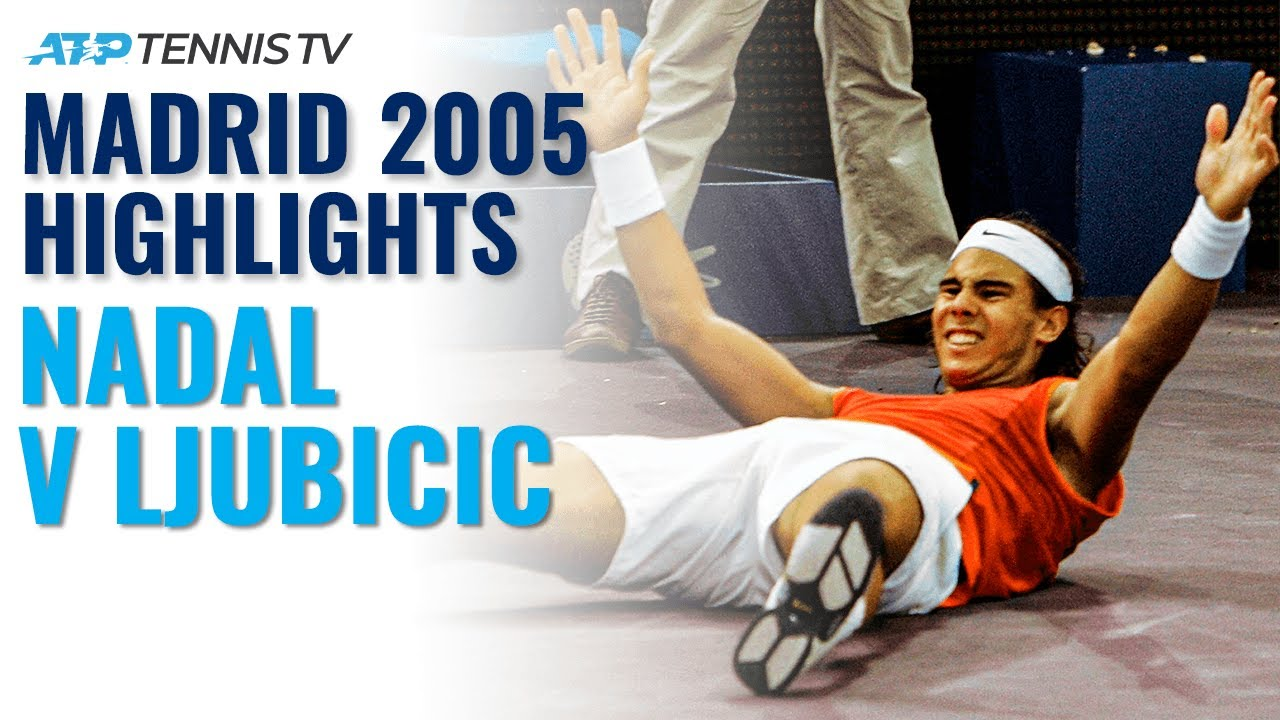 Rafa Nadal v Ivan Ljubicic: Madrid 2005 Extended Tennis Highlights