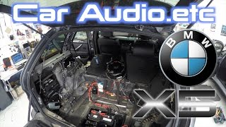 Video BMW X5 Stereo & Amp Replacement! BIG JOB! | Part 1/5 download MP3, 3GP, MP4, WEBM, AVI, FLV Agustus 2018