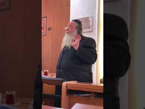 Rosh Yeshivas Sefas Emes R' Shaul Alter Giving a  Shiur In Ramat Gan - Tammuz 5778