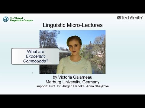 Linguistic Micro-Lectures: Exocentric Compounds