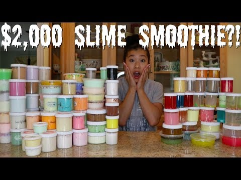 $2,000 FAMOUS SLIME SHOP SLIME SMOOTHIE?! (INSANE)