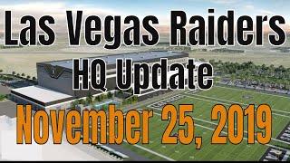 Las Vegas Raiders Headquarters Construction Update 11 25 2019