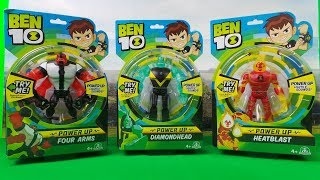 Ben 10 Reboot 2017 Power Up Action Figures toys with Lights & Sounds UNBOXING
