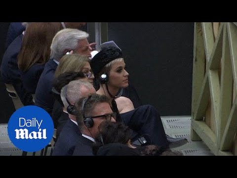 Singer Katy Perry attends service at Paul VI hall at the Vatican - Daily Mail
