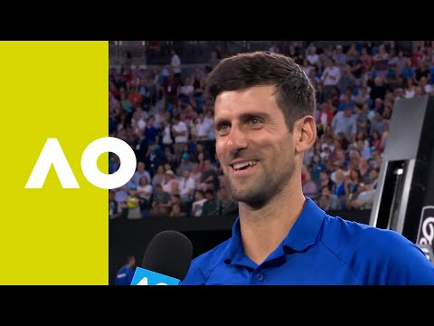 Novak Djokovic on-court interview (QF) | Australian Open 2019