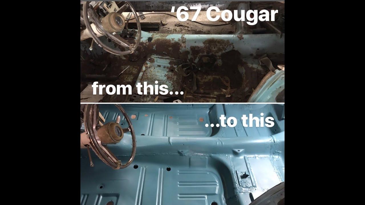 300 Rusty Floor Repair On 67 Cougar Youtube