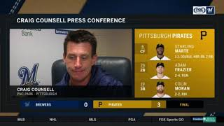 Brewers' Craig Counsell credits Pirates pitcher Trevor Williams