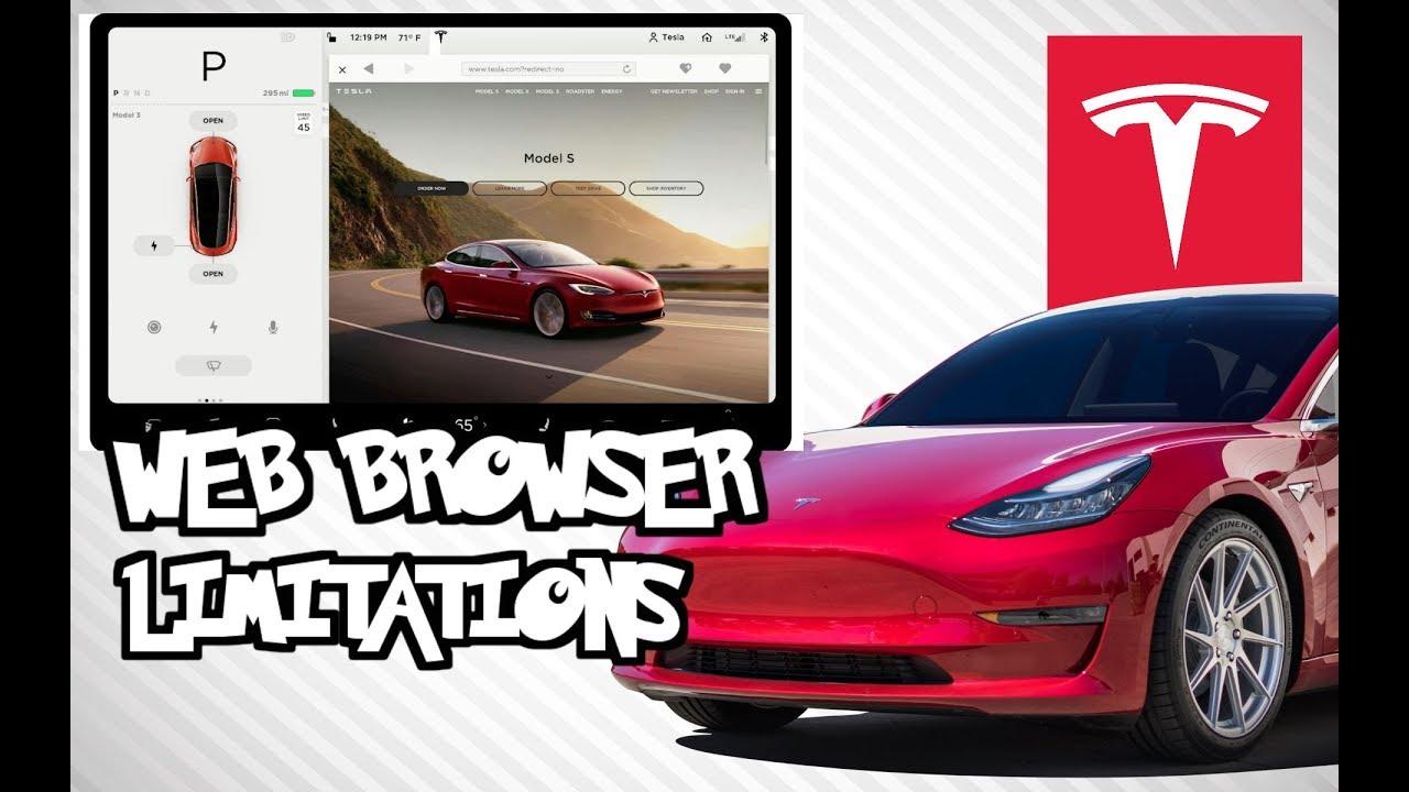 Tesla Web Browser Tests & Limitations - YouTube