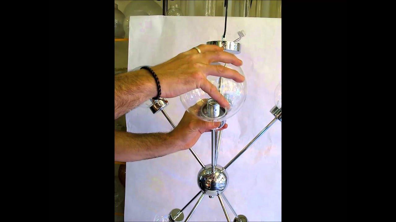Como cambiar el globo o tulipa de una l mpara youtube - Como colocar una lampara ...