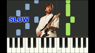 SLOW piano tutorial TEARS IN HEAVEN Eric Clapton, 1991, Rush, with free sheet music