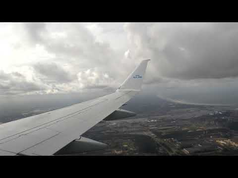 ONBOARD - KLM E175 KL1486 Humberside Airport To Amsterdam Schiphol