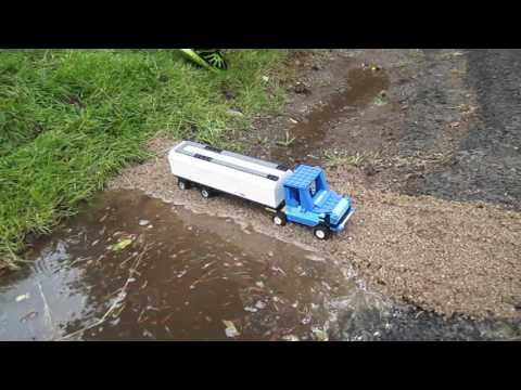 Lego truck vrs sand dam breach
