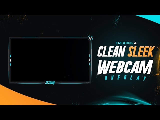 Photoshop Tutorial: Clean Sleek Quality Webcam Overlay