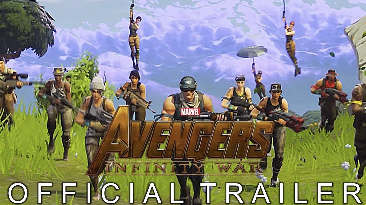 fortnite avengers infinity war trailer - fortnite and avengers trailer