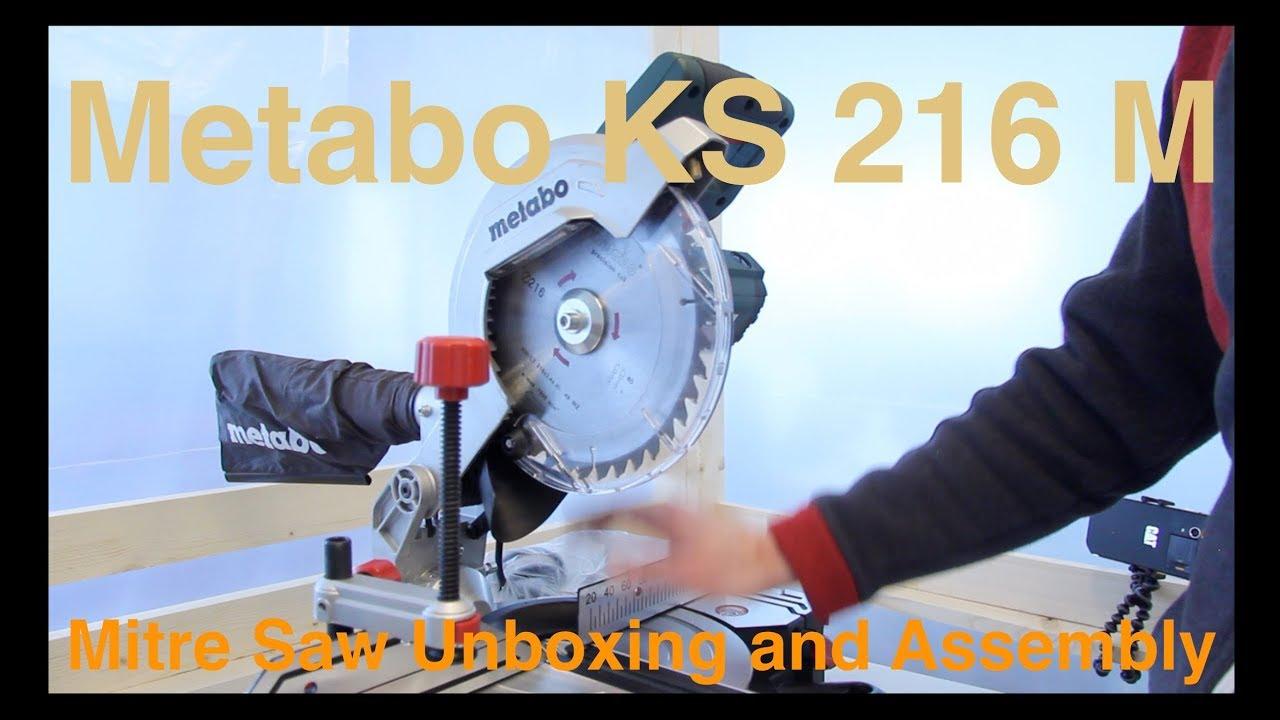 unboxing metabo ks 216 m lasercut mitre saw episode 53 18 feb 2018 youtube. Black Bedroom Furniture Sets. Home Design Ideas