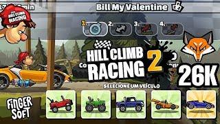 26K NA BATALHA DE CLÃS ( Bill My Valentine )   Hill Climb Racing 2