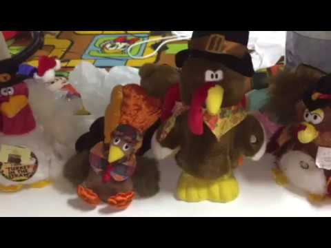 DanDee and other Animated Dancing, singing Turkeys (Thanksgiving special)