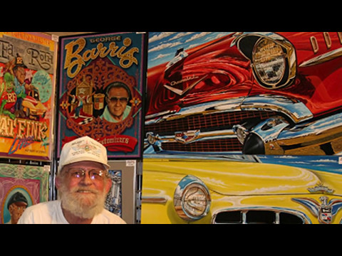 BOB BOND ART HOW TO SERIES on Pinstriping GOLD LEAF Lettering and Painted Graphics