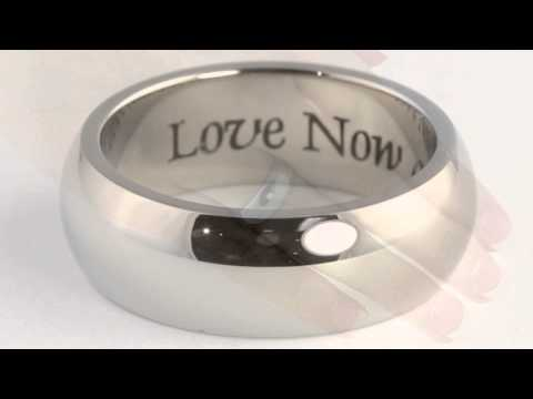 Stainless Steel Tailored Inspirational Message Eternity Band Ring. http://bit.ly/377csoh