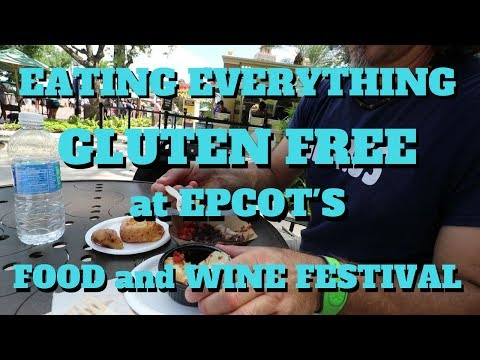 Eating everything gluten-free challenge!! at EPCOT food and wine