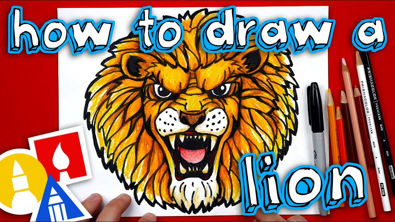 How To Draw A Realistic Lion Youtube