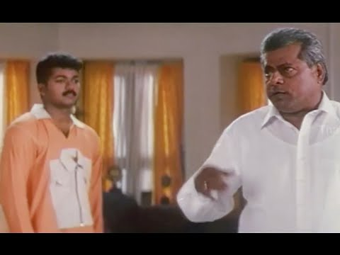"Delhi Ganesh Comedy Scene With Vijay - Vijay 's ""Thamizhan"" Movie Scene"
