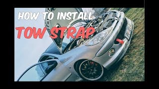 HOW TO install TOW STRAP Peugeot 206 *Vlog.32*
