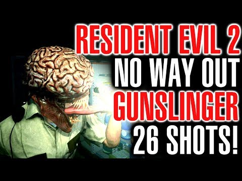 Resident Evil 2 No Way Out Gunslinger Challenge - Under 60 Handgun Shots