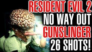 Resident Evil 2 No Way Out Gunslinger Challenge - Under 60 Handgun Shots