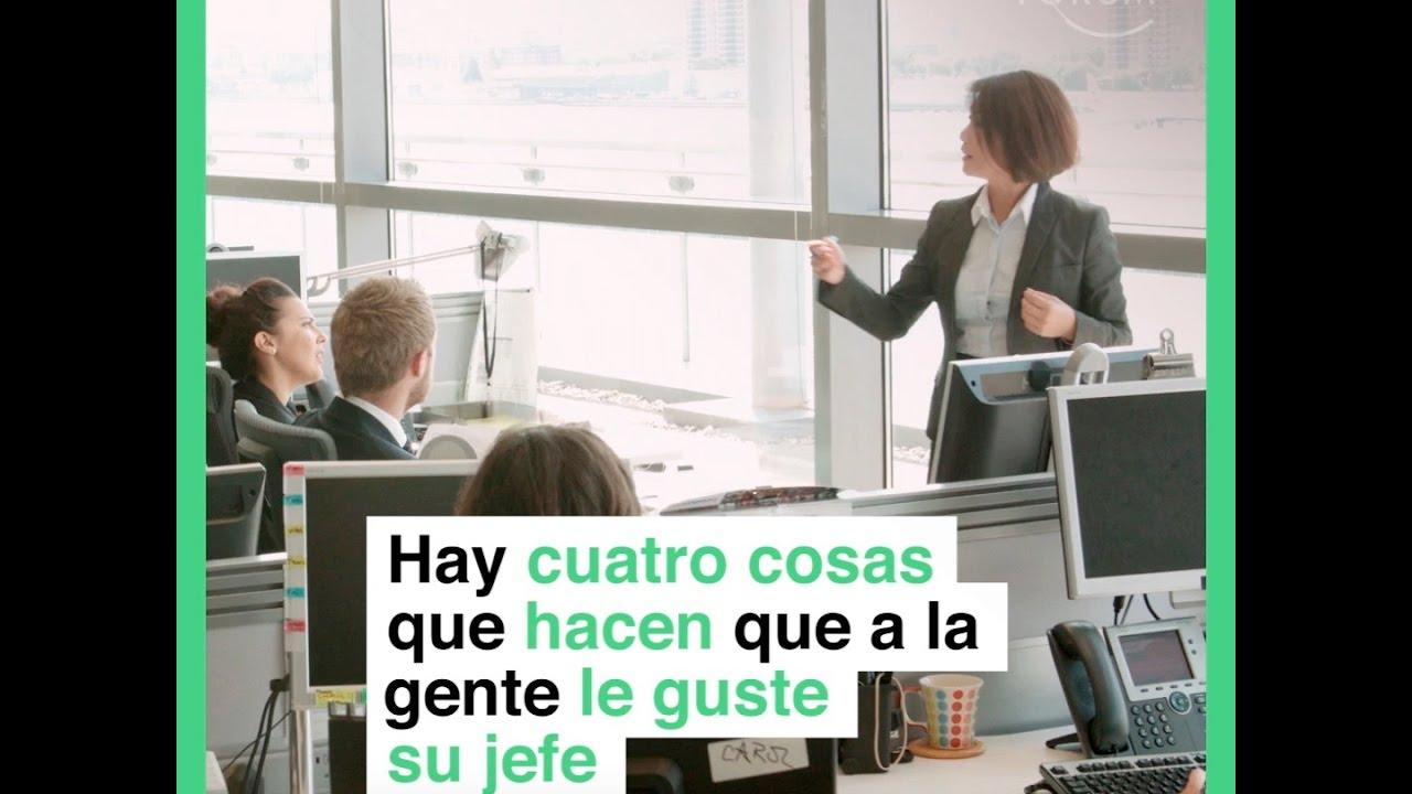 Hay cuatro cosas que hacen que a la gente le guste su jefe