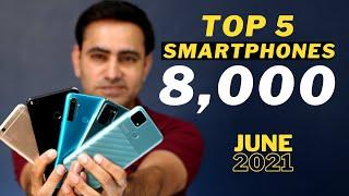 Top 5 Best Smartphones Under 8000   Big Display   6000 Mah Battery   Freefire Gaming  