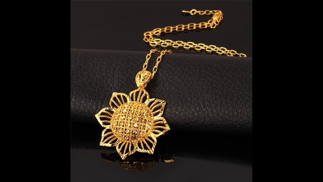 Beautiful Pendant Designs In Gold - YouTube