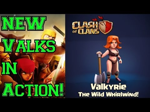 Valkyries + Jump Spell = NEW Hog Rider? Valkyries IN ACTION - Clash Of Clans Update