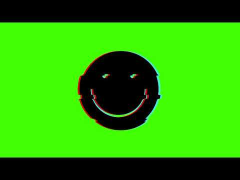 Happy Face Green Screen Animation Glitchy Effect Free to Use HD