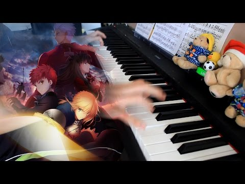 Fate/stay night Unlimited Blade Works OP - ideal white Piano arr.EgOistHiuMan HQ