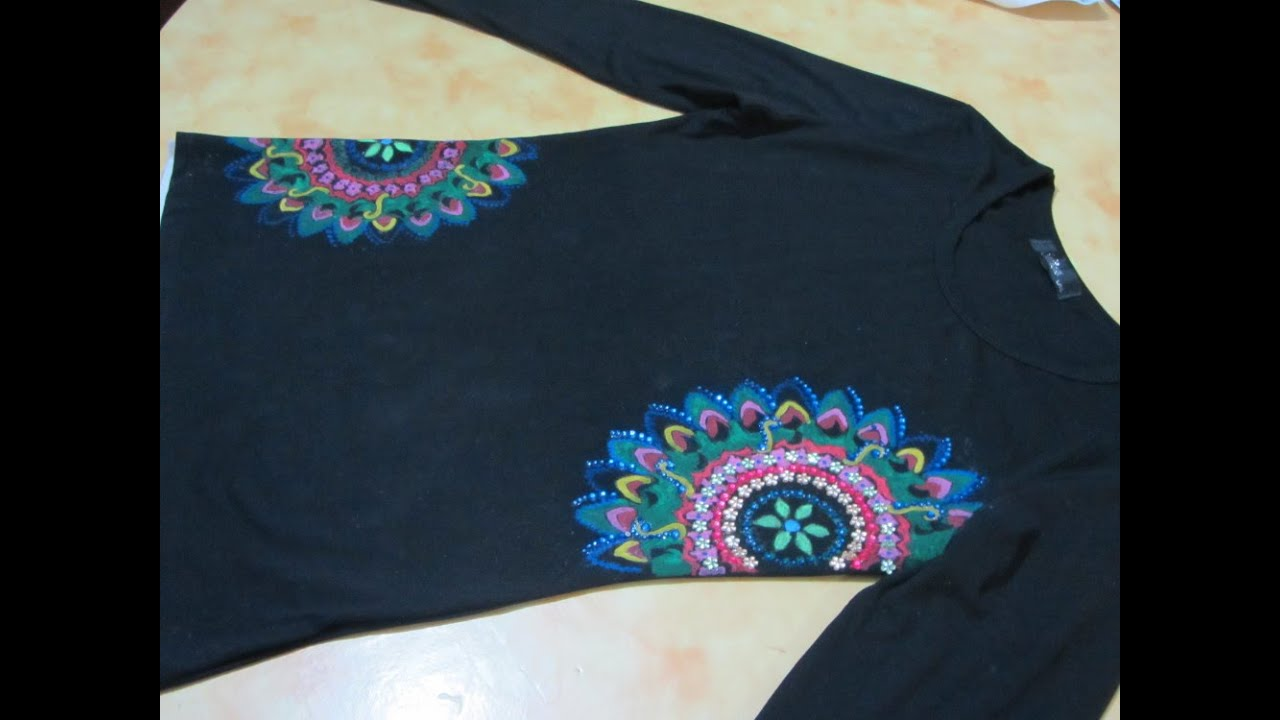 Souvent Decorazione di una maglietta nera - YouTube FW63