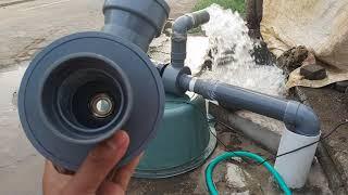 Alkon PVC modifikasi pompa air sendiri