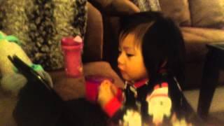Toddler singing Reflection by Mulan