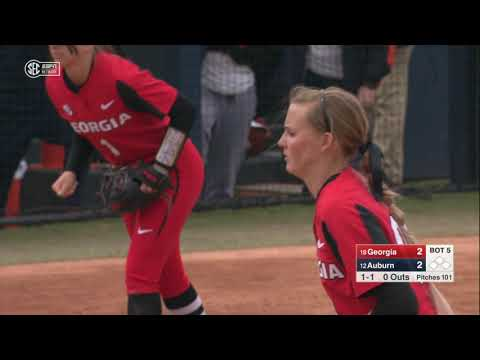 Auburn University Sports - Auburn Softball vs Georgia Game 3 Highlights