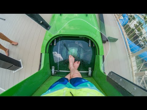Encore Club Water Park at Reunion - Stormchaser | Extreme Trapdoor Waterslide Onride POV