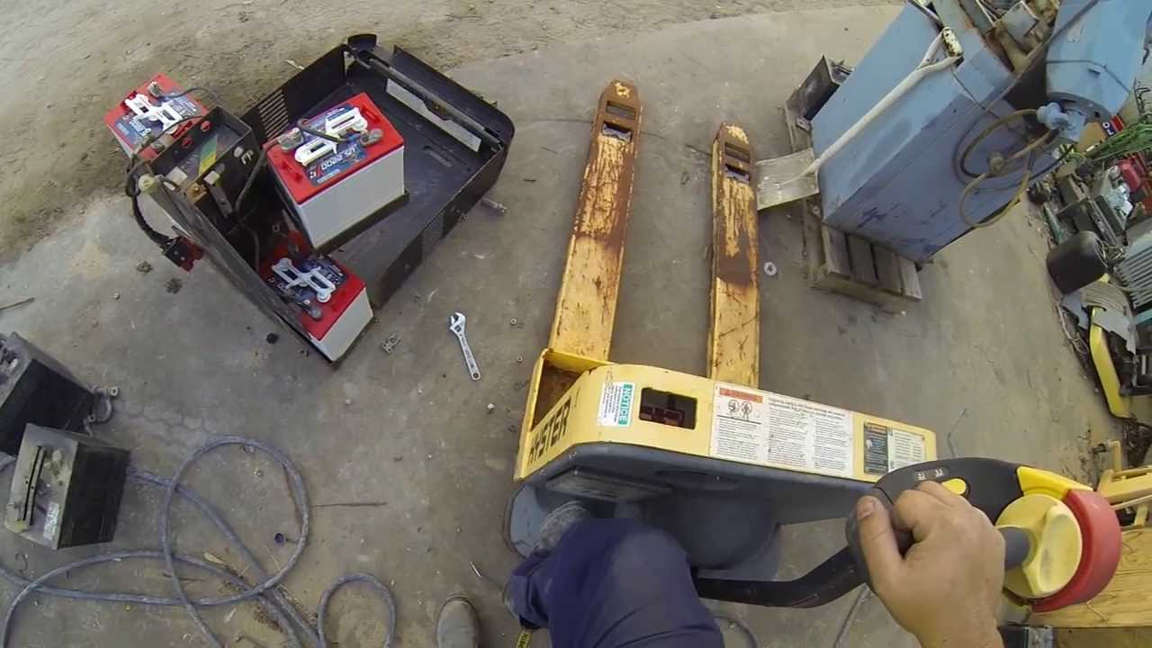 Equipment Repair Pallet Jack Batteries Youtube
