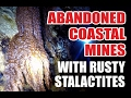 Explorers Find Abandoned Coastal Mines With Rusty Stalactites