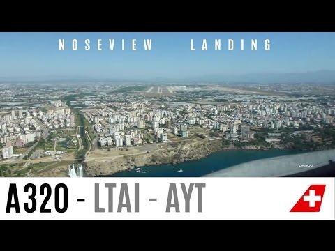 AMAZING A320 Pilotview Landing in Antalya