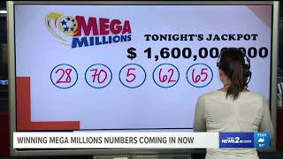 Mega Millions Drawing For Historic $1.6 Billion Jackpot: Tuesday, Oct. 23