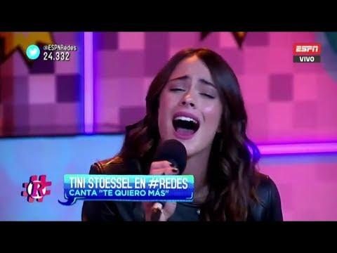 Te quiero más, Tini Stoessel - Acústico en vivo #ESPNRedes