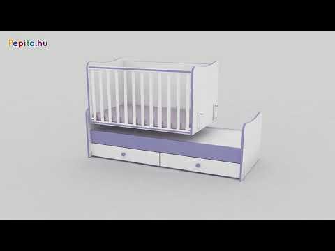 7c08dfee1f Lorelli Maxi Plus kombi Kiságy 60x110cm #fehér-rózsaszín | Pepita.hu